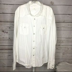 BKE Mens Button front shirt size XXL